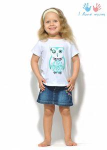 """Obrazek Koszulka dziecięca """"I love mum"""" biała z sową"""