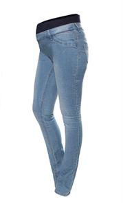 Изображение Джинсы для беременных голубые 1552 пояс-бандаж под живот