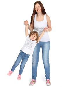 """Obrazek Koszulka dziecięca """"I love Mum"""" białe malowanie"""