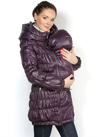 """Изображение Демисезонная куртка Сандра"""" слива 3в1: обычная, для беременных, для слингоношения"""
