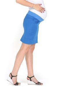 """Изображение Юбка 2 в 1 """"Николетта"""" васильковая для беременных, обычная юбка"""