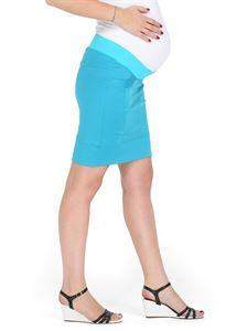 """Изображение Юбка 2 в 1 """"Николетта"""" бирюза  для беременных, обычная юбка"""