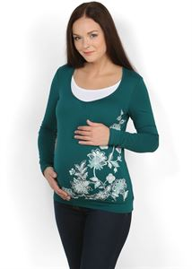 Picture of Blouse Kim dark green maternity and nursing