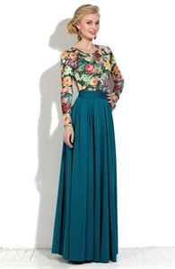 Picture of Skirt DSU-21-35 Maxi dark turquoise