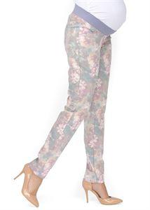 """Image de """"Belita"""" Pantalon de maternité 2 en 1 avec des fleurs"""
