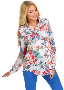 Picture of Arhelia Maternity And Nursing Blouse In white With Flowers