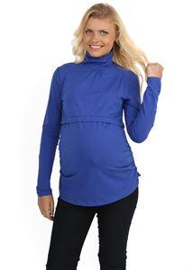 """Obrazek Sweter """"Glamour"""" jasno-niebieska dla kobiet w ciąży i karmiących"""