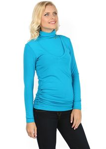 Picture of Maternity and nursing turtleneck Universal turquoise