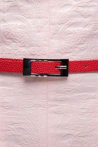 Bild von DM00503RD Gurt Schmal Texture-Rot