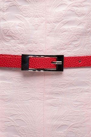 Изображение Ремень узкий DM00503RD красный текстурный