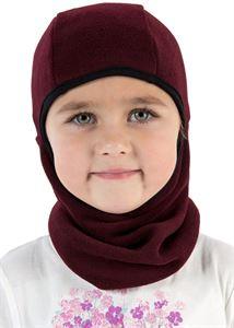 """Bild von """"Ninja"""" Helmmütze Fleece Burgund"""