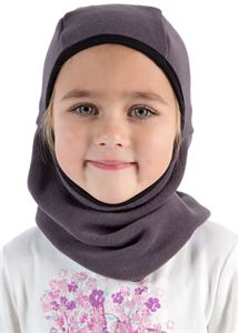 "Bild von ""Ninja"" Helmmütze Fleece grau"