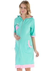 """Picture of """"Adel"""" Maternity mentol dressing gown"""