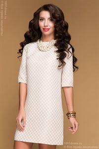 Bild von DM00483BG Kleid beige in Käfig Mini
