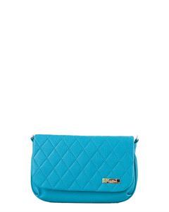 Picture of Bag ladies Bagsland 2466-13110 turquoise quilted on a long handle