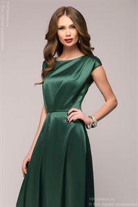 Изображение Платье DM00559EM изумрудное длины макси с короткими рукавами