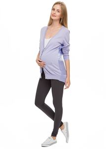 Picture of Thermal lined maternity leggings in graphite (LT01)