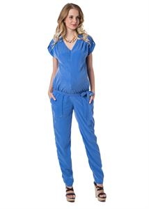 "Picture of ""Nelly"" Maternity cornflower jumpsuit"