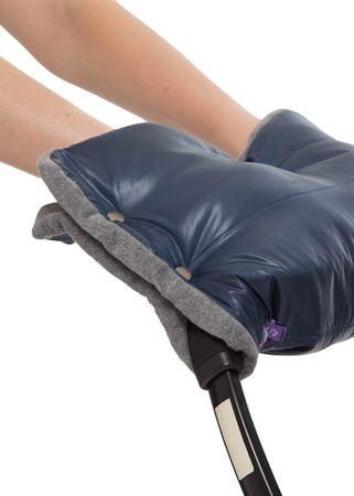 Изображение Муфта для рук на коляску синяя