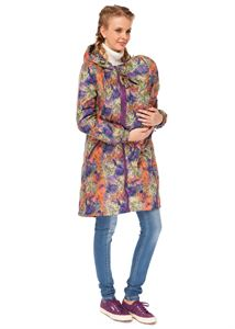 """Изображение Демисезонная куртка 3в1 """"Бритни"""" узоры на фиолете для беременных и слингоношения"""