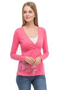 """Изображение Лонгслив """"Минди"""" для кормящих; цвет: розовый"""