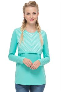 Picture of Maternity and nursing long sleeve Active mint