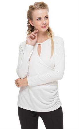 """Изображение Блуза """"Злата"""" молочная для беременных и кормящих"""