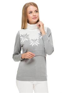 """Obrázek Svetr """"Winter"""" šedá melanž pro těhotné a kojící"""