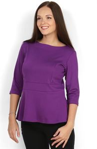 Picture of Blouse Stefi  purple maternity and nursing