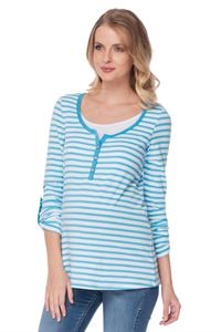 Picture of Maternity and Nursing Long sleeve Jey with blue stripe