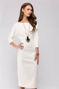 Picture of Dress DM00538VA vanilla MIDI length with a loose top