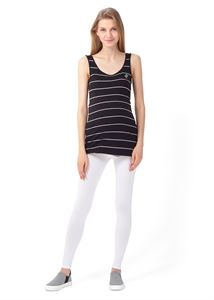 """Picture of """"Step"""" maternity leggings  2in1; color: white"""