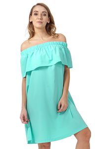 """Picture of """"Content"""" Maternity and nursing dress; color: menthol"""