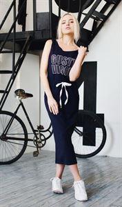 """Bild von Kleid """"Lara"""" in marineblau Print """"Gusty vigor"""""""