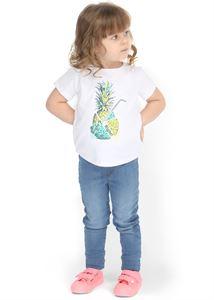 """Obrazek Koszulka dziecięca """"I love Mum"""" biała Ananas"""
