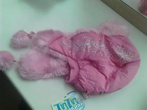 """Image de Детская Шапка-ушанка """"Метелица"""" 5-9 лет; цвет:  розовый"""