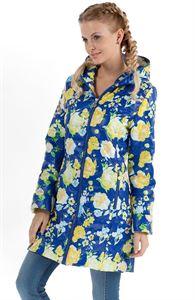 """Obrázek Bunda mezisezonní """"Olivia"""" žluté květy na modrém"""