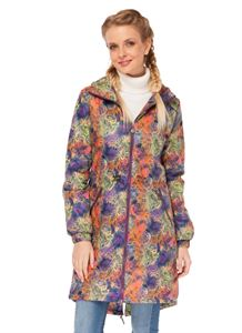 """Picture of Jacket demi 3in1 """"Britney"""" patterns on the violet for pregnant women and babywearing"""
