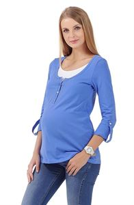 Picture of Maternity and Nursing Long sleeve Jey blue