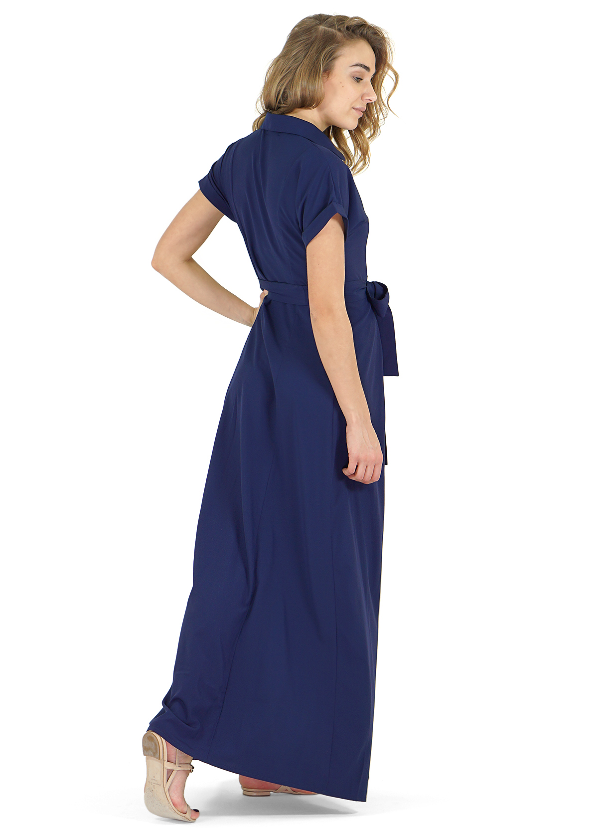 Uralmama alamani alamani maternity dress in dark blue ombrellifo Images