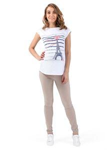 """Obrázek Kalhoty """"Giuliana"""" pro těhotné 2 v 1; barva: béžová"""