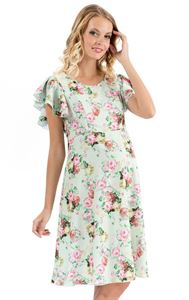 "Picture of ""Amily"" Maternity and nursing dress with apple print"