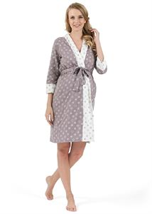"Picture of ""Tamila"" Maternity and nursing set ; color:  gray with stars"