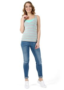 Picture of Nursing tank top MB03; colour: grey melange/menthol