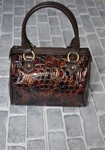 Bild von Bag Damen Bagsland 2258 Farbe: Schokolade, Reptil