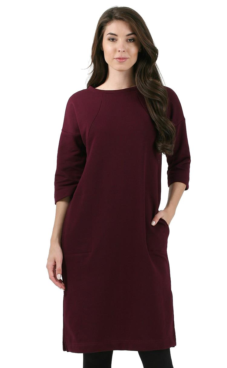 Picture Of Maternity And Nursing Dress Leontiya Color Marsala