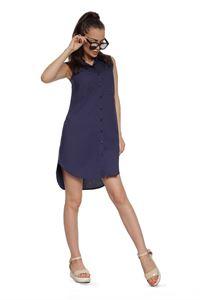 Изображение Платье - рубашка  FH29817 цвет: темно синий