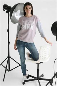 """Bild von Sweatshirt """"Evelina"""" Print pink Farbe: Pink"""