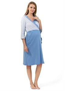 "Picture of ""Batista"" Maternity and nursing set ; color: blue"