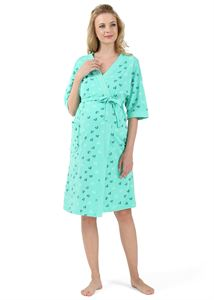 "Picture of ""Carmel""  Maternity  and nursing set; color: emerald green with hearts"